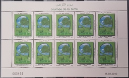 DE22- Morocco 2010 MNH Stamp In Complete Seet - Day Of The Earth, Environment - Morocco (1956-...)