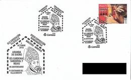 SPAIN. POSTMARK CARDINAL SANDOVAL Y ROJAS. ARANDA DE DUERO. 2018 - Marcofilia - EMA ( Maquina De Huellas A Franquear)