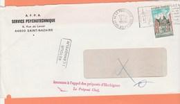 CACHET INCONNU A L'APPEL DES PREPOSES D' HERBIGNAC   LE PREPOSE CHEF SUR LETTRE - Marcophilie (Lettres)