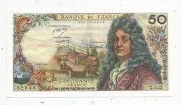 Billet , France , 50 , Cinquante Frrancs ,  Racine , 4-4-1968 , 2 Scans - 1962-1997 ''Francs''