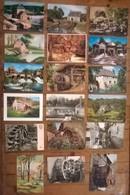 Lot De 19 Cartes Postales / MOULINS A EAU / Moulins à Aube - Water Mills