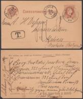 AUTRICHE Salzburg Vers Malines AMBULANT EST 3B Double Cercle 12/07/1880 (DD) DC-1288 - Stamped Stationery