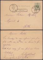 BELGIQUE EP 5c VERT AMBULANT MIDI 3 Du 17/12/1886 + HAL Encadre (DD) DC-1295 - Stamped Stationery