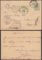 BELGIQUE EP 5c VERT De GAND Vers La Suisse AMBULANT OSTENDE-VERVIERS N°1 (DD) DC-1299 - Stamped Stationery