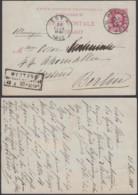 BELGIQUE EP 10c ROUGE De BRUXELLE VERS BERLIN AMBULANT EST 1 DU 21/02/1883 (DD) DC-1303 - Stamped Stationery
