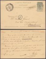 BELGIQUE EP 5c VERT AMBULANT OUEST 2 Du 02/10/1895 + AUDENARDE Encadre (DD) DC-1305 - Stamped Stationery
