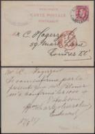 BELGIQUE EP 10c ROUGE   AMBULANT MIDI 6 CHARLEROI Vers Londre Du 17/08/1885 (DD) DC-1309 - Stamped Stationery