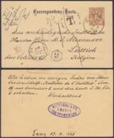 AUTRICHE EP VERS LIEGE AMBULANT EST 3B Du 20/08/1887 (DD) DC-1310 - Entiers Postaux