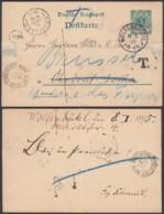 ALLEMAGNE VERS BRUXELLES AMBULANT OSTENDE VERVIERS N°2 Du 10/01/1895 (DD) DC-1313 - Stamped Stationery