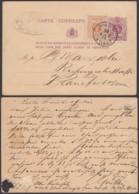 BELGIQUE EP 5c +COB 28 AMBULANT NORD 1 ANVERS  Du 29/08/1879 VERS ALLEMAGNE  (DD) DC-1314 - Stamped Stationery