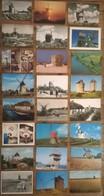 Lot De 28 Cartes Postales / MOULIN  A VENT - Moulins à Vent
