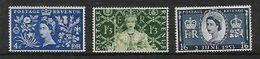 Great Britain,  EIIR, 1953 Coronation 4d, 1/3, 1/6 ,MNH* * - Unused Stamps