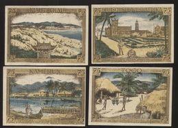 Notgeld - Deutsch-Hanseatischer Kolonialgedenktag 1922 - Serie Von 4 Gutscheinen Mit Unterschiedlichen Motiven - [11] Local Banknote Issues