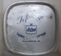 VASSOIO SALUS LIQUORI SCIROPPI VILLANOVA M. VINTAGE ALLUMINIO PLATEAU - Schalen Und Tabletts