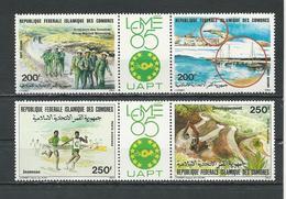 COMORES Scott C146a, C151a Yvert PA211-PA212, PA217-PA218 (4) ** Cote 12,75 $ 1985 - Comores (1975-...)