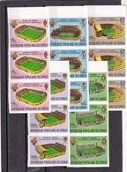 Congo Nº A280 Al A284 SIN DENTAR En Tira De 3 Series - Fußball-Weltmeisterschaft