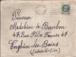 TP N° 518 SUR LETTRE DE 1943 - 1941-42 Pétain