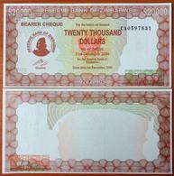 Zimbabwe 20000 Dollars 2003 UNC - Zimbabwe