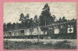 Train Sanitaire Allemand - Rotes Kreuz - Red Cross - Croix Rouge - Hilfslazarettzug 28 - Feldpost - Guerre 14/18 - Guerra 1914-18