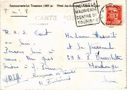 FONTCOUVERTE LA TOUSSUIRE (73) L'Hôtel Des Arcosses - Rare - Carte Postée Le 7 Mars 1952 - Autres Communes