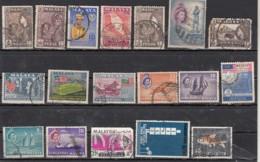 Malaya  Malaisie Lot De 18 Timbres - Gran Bretaña (antiguas Colonias Y Protectorados)