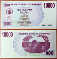 Zimbabwe 10000 Dollars 2007 UNC #0003300 - Zimbabwe