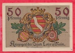 Allemagne 1 Notgeld De 50 Pfenning Stadt Camp Lohr A Main (RARE) Dans L 'état  N °2889 - [ 3] 1918-1933 : République De Weimar