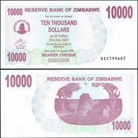 Zimbabwe 10000 Dollars 2007 UNC - Zimbabwe