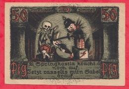 Allemagne 1 Notgeld De 50 Pfenning Stadt Camp Gonneberg (RARE) Dans L 'état  N °2890 - [ 3] 1918-1933 : Weimar Republic