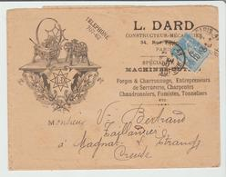 """PARIS: """" FORGES, CHARRONNAGE, TONNELIERS L. Dard Rue Pérignon / LSC De 1900 Pour Magnat TB - Marcophilie (Lettres)"""