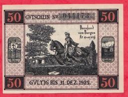 Allemagne 1 Notgeld De 50 Pfenning Stadt Bergen (RARE) Dans L 'état  N °2891 - [ 3] 1918-1933 : République De Weimar