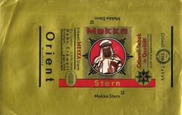 """2170 """" MEKKA STERN - CRUWELL-TABAK=QUALITAT  """" INCARTO PER PACCHETTO TABACCO ORIGINALE - Tabacco (oggetti Legati)"""
