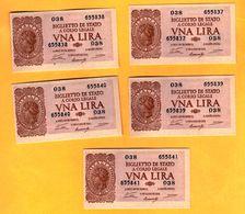1 LIRA - ITALIA LAUREATA - NUM. CONSECUTIVA - DECR. 23 - 11 - 1944 - FDS - [ 1] …-1946 : Kingdom