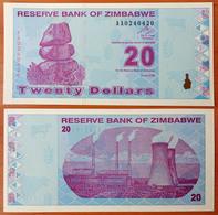 Zimbabwe 20 Dollars 2009 UNC Radar 0240420 - Zimbabwe
