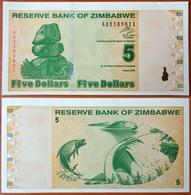 Zimbabwe 5 Dollars 2009 UNC Radar 1189811 - Zimbabwe