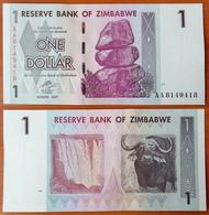 Zimbabwe 1 Dollar 2007 UNC Radar 8149418 - Zimbabwe