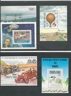 COMORES Scott 599-608 Yvert BF40-41-42-43-44 (5blocs) ** Cote 25,00 $ 1985 SURCHARGES - Comores (1975-...)