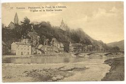 ESNEUX  Panorama, Le Pont, Le Château, L'Eglise Et La Roche Trouée. - Esneux