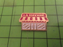 912b Pins Pin's / Rare & Belle Qualité THEME : MARQUES / TABAC PRESSE LA HAVANE - Transport Und Verkehr