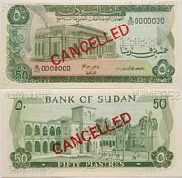 Sudan 50 Piastres 1970 UNC Specimen (1) - Soudan