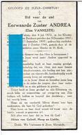 Eerw. Zuster Andrea(Elza Vanneste)geb.Wulpen 1872+Moorslede 1946 - Religion & Esotericism