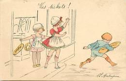-ref-B154- Illustrateurs - Illustrateur Maitrejean -les Tickets ! - La Carte De Pain N° 5- Boulangerie - Rationnement - - Illustrateurs & Photographes
