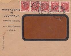 LETTRE. PARIS 1942 BANDE DE 5. PETAIN 30c .PERFORÉS MESSAGERIE DE JOURNEAUX /    3 - 1921-1960: Période Moderne