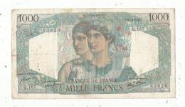 Billet , France , 1000, Mille Francs, Minerve Et Hercule , 6 -12- 1946 , 2 Scans, Frais Fr 1.95 E - 1871-1952 Anciens Francs Circulés Au XXème