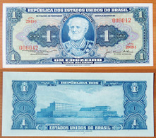 Brazil 1 Cruzeiro 1976 UNC S/n 000042 - Brésil