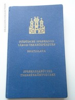 ZA149.15  Bratislava Slovakia  1939 - Städtische Sparkassa -Városi Takarékpénztár Sparkassabüchel  Komárom Komarno - Cheques & Traveler's Cheques