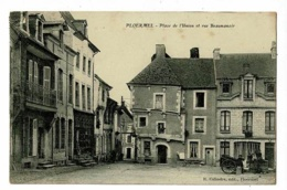 Ploërmel - Place De L'Union Et Rue Beaumanoir ( Petite Animation) Circ 1908, Cachet Convoyeur De Ploermel à Questembert - Ploërmel