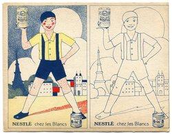 """RC 11055 NESTLÉ """" CHEZ LES BLANCS """" COLORIAGE ANNÉES 30 - Publicités"""