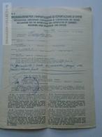 ZA149.16 Currency Importation Or Exportation Document  Italia  - 48 Mark - 60 Pengö -100 Swiss Frank -ca 1930 - Chèques & Chèques De Voyage