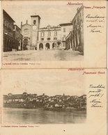 (C).Moncalieri(TO).Lotto 2 Antiche Cartoline.F.to Piccolo.Viaggiate Nel 1901 (c18) - Moncalieri